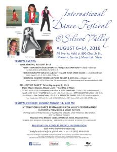 Dance Festival SV 2016 Flyer